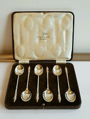 Stunning set of Solid Silver Apostle Tea Spoons By Walker & Hall Sheffield 1936