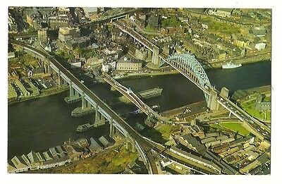 Newcastle - a photographic postcard of Newcastle from the air