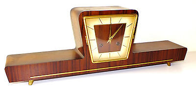 Chiming Mantel Clock Hermle  Art Deco Germany • £81.00