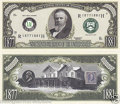 Two Rutherford B. Hayes 19th US President History Bills #P19