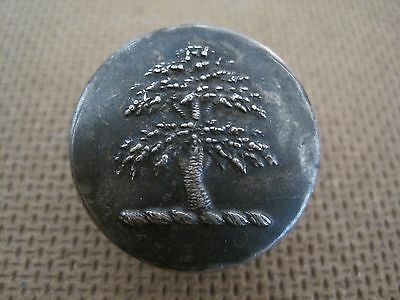 Excellent Silver Plated Unknown Tree Livery Button  - 26Mm - Firmin