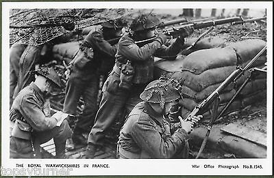 The Royal Warwickshire Regiment Fighting In France. War Office Real Photo.