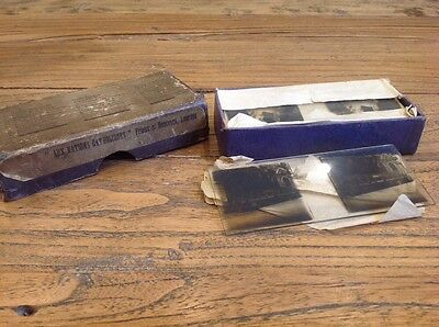 Box Of French Vintage Glass Slides Of Lourdes