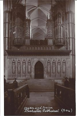 Rochester Cathedral Internal View Organ & Screen, Medway Kent