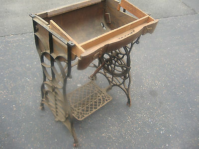 Antique Cast Iron Treadle Sewing Machine Body Only Industrial Decor