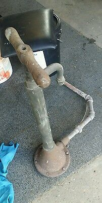 Primitive antique outside water pump brass well