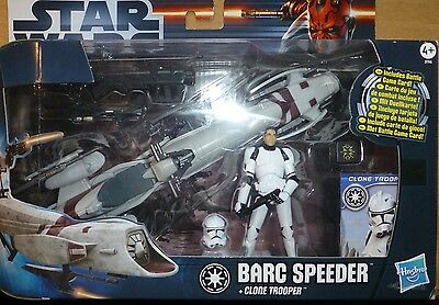 Star Wars Actionfigur Movie Heroes Barc Speeder with Clone Trooper