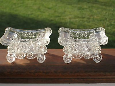 1820-1830 - Early Pair of Open Salts Boston & Sandwich/New England Glass Co.