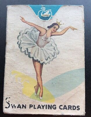 Vintage SWAN Playing Cards CARDS are Wrapped In Original Tissue Paper