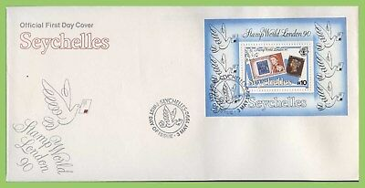 "Seychelles 1990 ""Stamp World London '90""  Exhibition M/S First Day Cover"