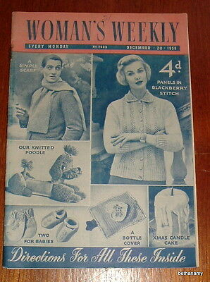Vintage magazine  - WOMAN'S WEEKLY 20th December 1958