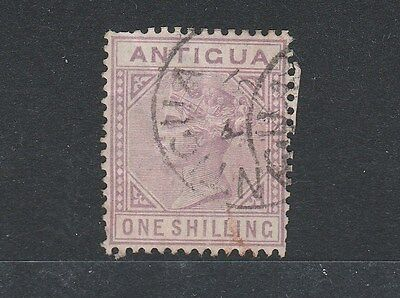 Antigua 1886 Sg30 1/- Mauve Used Condition As Scanned Cat Value £140 (2013)