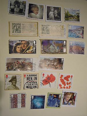 20 different Modern Commemorative stamps  used  on paper to 2016 set B