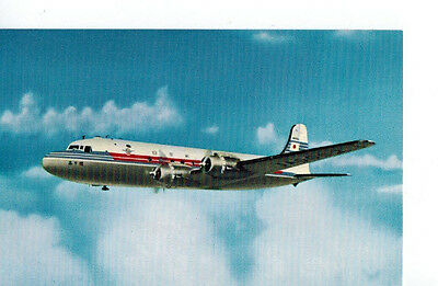 Japan Airlines airline issue postcard DC4