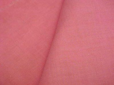 Vintage Antique Cotton Quilt Fabric Solid SWEET PINK 1930s Era Sew Material