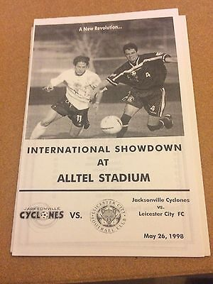 1998 Friendly Jacksonville Cyclones v Leicester City 26/5/98