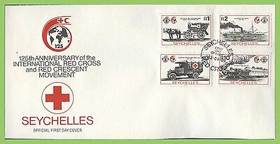 Seychelles 1989 125th Anniv of International Red Cross set First Day Cover