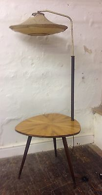 Mid Century 1950s French Atomic Lamp Table