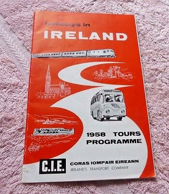 Holidays In Ireland 1958 Tours Programme With Map 1958 Coras Iompair Eireann Cie