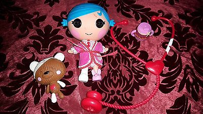 Lalaloopsy poorly/patiant doll with teddy and stethoscope