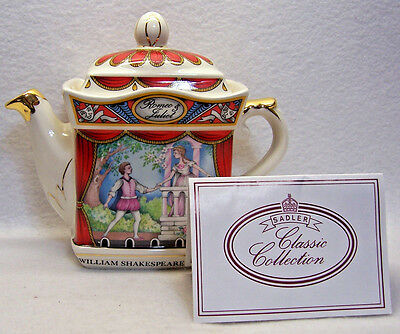 SADLER CLASSIC COLLECTION TEAPOT ~ Shakespeare, Romeo & Juliet, 4445