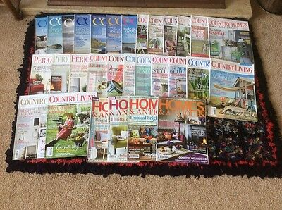 Job Lot 30 Magazines Coast, Country Homes, Country Living, Homes And Antiques