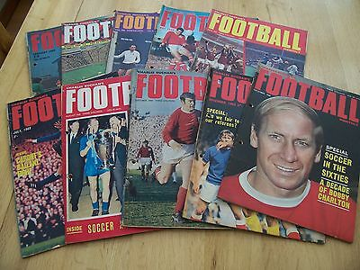 10 Issues 1968 Of Charles Buchan's Football Monthly