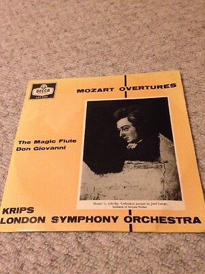Mozart Overtures Josef Krips  London Symphony Orchestra 7 Inch 45 Single