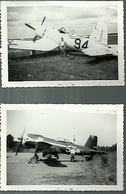 """Lot Of 2: 1949 Air Racing Airplanes 4"""" X 6"""" Black & White Photographs"""