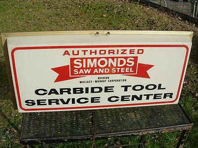 Authorized SIMONDS Saw and Steel Carbide Tool Service Center Light Up Sign works