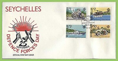 Seychelles 1988 Defence Forces Day set on First Day Cover