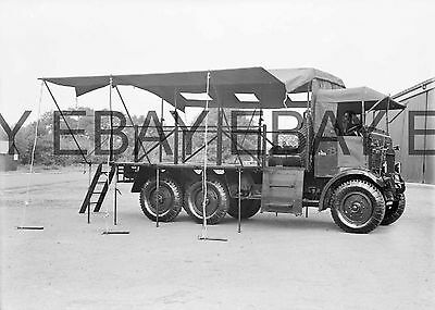 c1930 British Army Scammell Mobile Workshop Lorry Photograph