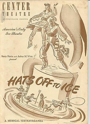 "1945 Rockefeller Centre ""hats Off To Ice""a Musical Icetravaganza"