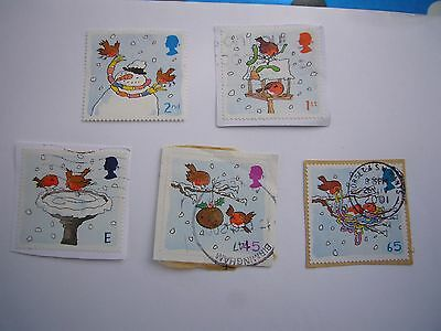 Christmas Robins fine used set from 2001 some on paper