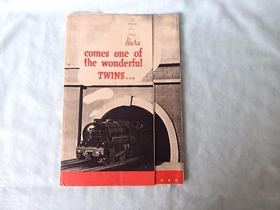 Original Trix Twin TTR Catalogue 1937 in V Good Condtn Inc Leaflet & Price List