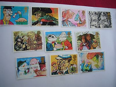 "Greetings stamps ""Gift Giving"" fine used set from 1993 some on paper"