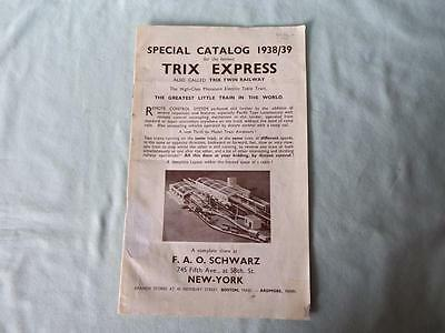 Original Schwarz USA Trix Express Catalogue 1938-39 with American Pacific