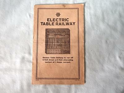 Original 1920's 00 Bing Table Railway Instruction Leaflet from Electric Sets
