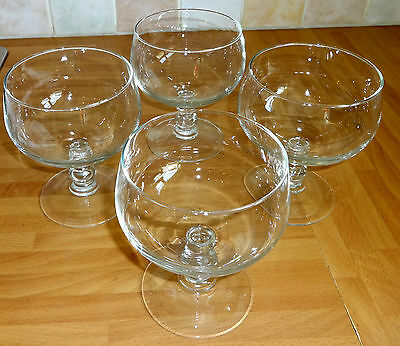 Luminarc / Arcoroc (France) 4 Extra Large Stemmed Dessert Glasses 5.25""