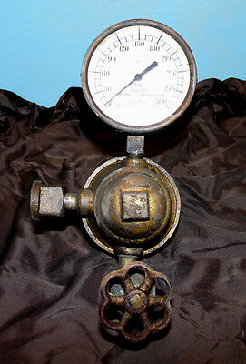 Antique LIQUID CARBONIC Brass Valve and Gauge with attachments STEAMPUNK