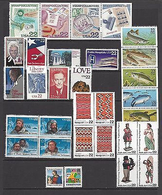 Usa 1986 Complete Year Set Of 31 Commemorative Issues Nhm/um