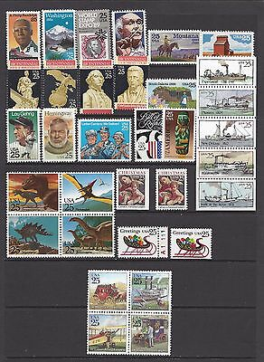 Usa 1989 Complete Year Set Of 33 Commemorative Issues Nhm/um