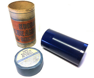 Edison Blue Amberol - 4 minute Phonograph Cylinder Record ~ Poem ~ BR Williams