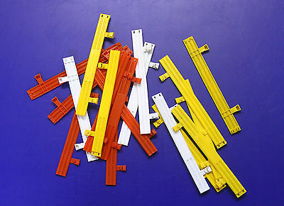 SCALEXTRIC C274 Track side ARMCO Crash Barriers - Red, White & Orange (x18)
