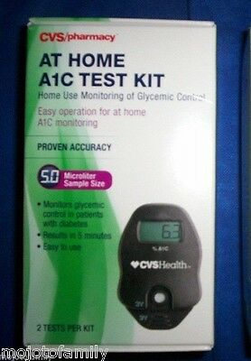 Lot of 4 CVS PHARMACY A1C Self Check At Home A1C System 2 Test Each (8 Total)