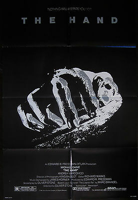 The Hand 1981 Michael Caine Original US One Sheet Poster