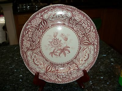 """Spode Archive Georgian Series Red & White """"Floral"""" 10 1/3"""""""