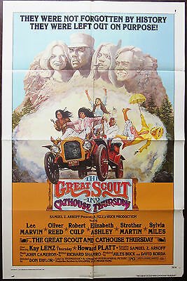 The Great Scout And Cathouse Thursday 1976 Lee Marvin Oliver Reed US Poster