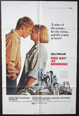 Red Sky At Morning 1971 Richard Thomas Richard Crenna Claire Bloom US Poster