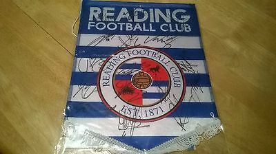 Reading - Hand Signed 2016 - 17 Pennant - Swift, Beerens & 14